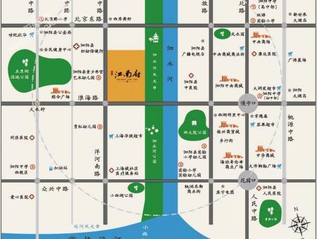 泗阳石榴江南府位置图